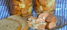 Utopenci Czech Recipes, Russian Recipes, Good Food, Yummy Food, Polish Recipes, Pretzel Bites, Sausage, Foodies, Sandwiches