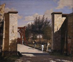 The North Gate of the Citadel, 1834, Christen Købke. Danish (1810 - 1848)