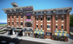 Victorian style Town with Hotel on World of Keralis Minecraft Map Minecraft Modern City, Minecraft City Buildings, Minecraft House Plans, Minecraft Structures, Cute Minecraft Houses, Minecraft Houses Blueprints, Minecraft Room, Minecraft House Designs, Minecraft Architecture