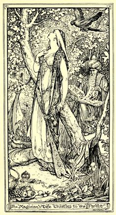 The Blue Parrot - The Olive Fairy Book by Andrew Lang, 1907