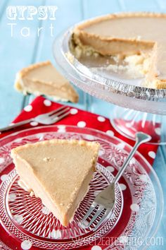 Gypsy Tart - Sweet, rich, creamy, and one of the most quickest and easiest tarts, with just two ingredients for the filling.