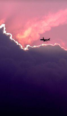 Airplane Wallpaper, Cloud Wallpaper, Iphone 6 Wallpaper, Screen Wallpaper, Phone Backgrounds, Mobile Wallpaper, Wallpaper Backgrounds, Iphone Background Pink, Dark Purple Wallpaper