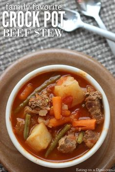 Quick & Easy Crock pot Beef Stew Recipe - A Simple beef stew recipe that is packed with flavor. Try this easy beef stew crock pot recipe.