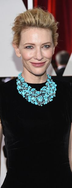 Flawless skin was Cate Blanchette's best accessory on the red carpet.