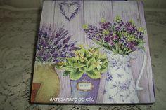 Caixa Flores Lilás - R$ 20,00 Cod. PCX 143