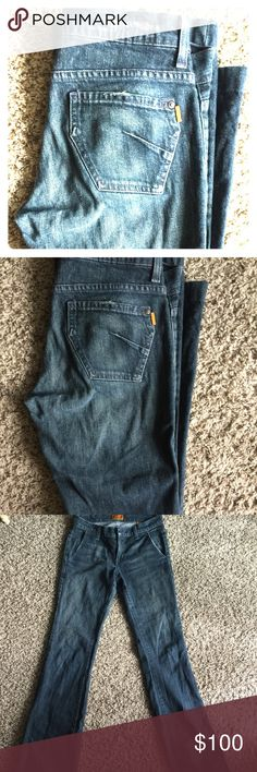 James Preserved Denim Jeans Size 26 super chic James dark jeans. Can be worn to nice events or completely casual. I, evidently, love very versatile clothing. Worn less than five times. 97% Cotton; 13% Lycra. James Jeans Jeans Boot Cut