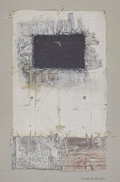 D-10.Sep.1987paper making, painting, collage on paper 林孝彦 HAYASHI Takahiko 1987