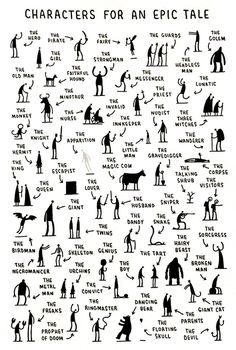 Characters for an Epic Tale by Tom Gauld.