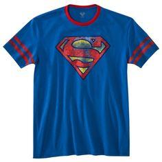 Superman Shield Men's Graphic Tee - Royal Blue
