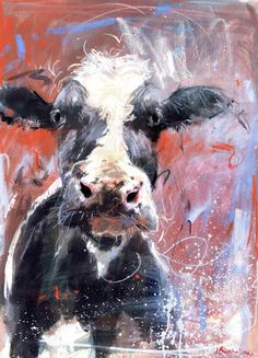 © Art and Life Cow Painting, Painting & Drawing, Painting Inspiration, Art Inspo, Illustrations, Illustration Art, Cow Pictures, Cow Art, Animal Paintings