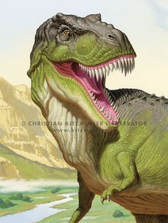 DINOSAUR ILLUSTRATIONS by Christian Kitzmüller, via Behance