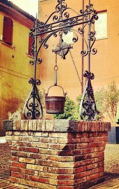 Qayabat is an arabic term which refers to a platform on the wall of a well near a water which cannot be seen from above the wall Garden Gates, Garden Beds, Garden Art, Garden Design, Gazebos, Fountain Design, Water Drawing, Water Well, Love Garden