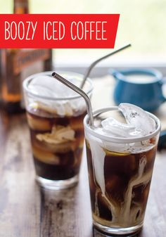This recipe for Boozy Iced Coffee—made with your choice of liquor, like whiskey, spiced rum, or schnapps— is one part dessert and one part delicious cocktail. Plus, the classic flavors are great for giving your favorite refreshing drink an adult twist.