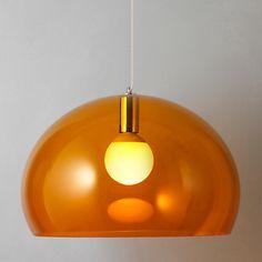 Buy Kartell FLY Ceiling Light, Orange online at JohnLewis.com - John Lewis
