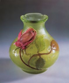 "Emile Gallé, Vase ""Rose de France"" 