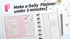 How to make a Daily Planner in 3 minutes Planner Layout, Bullet Journal, Learning, How To Make, Studying, Teaching, Onderwijs