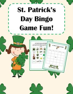 St. Patrick's Day Cut & Paste Bingo Game! #editableprintables #freeprintables