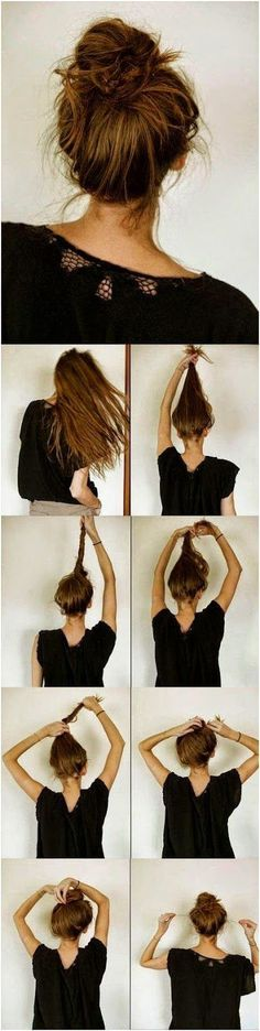 7 Easy Steps To Make This Messy Bun For Long Hair