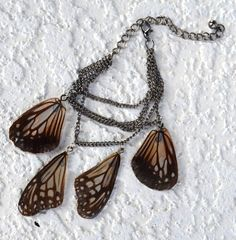 Butterfly Wing Charm Bracelet by myNaturesDESIGN on Etsy, $54.00