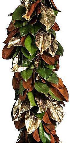 gilded magnolia leaves