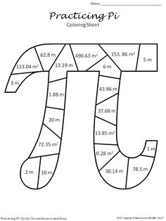 Pi Day Activity Circle Circumference and Area Middle