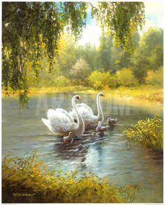 Schwane Art Print by Max Weber at Art.com