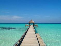 The Maldives.  To marvel at that incredible blue.