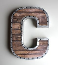 Faux Reclaimed Wood Letters Gallery Wall Reclaimed by HouseofCrazi