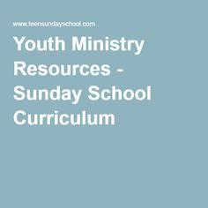 Teen Ministry Curriculum 93