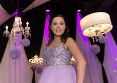 Bat Mitzvah Dress - Purple & Silver with Beading & Crystals {Party at SPACE NJ, Joseph Scollo Photography} - mazelmoments.com