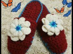 Весенние Тапочки крючком на флисовой основе. Slippers - how to crochet - YouTube