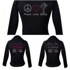 Kami-So Polartec Ice Skating Jacket-Peace Love Ice skate (multi, pink, skate 2)  https://figureskatingstore.com/brands/Kami-So.html Kami-So ice skating apparel and skatewear Express yourself through fashion and leave the competition behind. Kami-So Ice Skating apparel and Skatewear brings you a line of premium figure skating apparel with a touch of world fashion. #figureskatingstore #figureskating #sport #icedance #iceskating #skating #figureskater #iceskate #icering #kamiso
