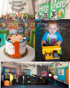 Everything Goes Theme 1 Year Old Birthday Party Huntington Beach Photographer