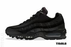 finest selection 51c7a 234da Nike Air Max 95 Premium – Black Air Max 95, Nike Air Max, Baskets