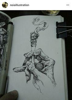 Finelyner Sketch Hand with cigarett Drawing Sketches, Tattoo Sketches, Tattoo Drawings, Cool Drawings, Pencil Drawings, Cigarette Drawing, Snake Painting, Creation Art, Graffiti Tattoo