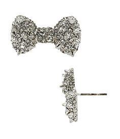 Betsey Johnson Spiky Bow Stud Earrings #Dillards