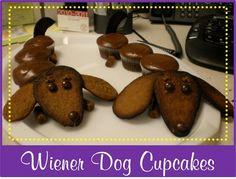 Weiner dog cupcakes!!!