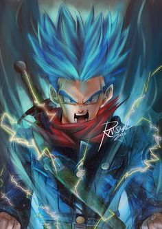 "Check out my @Behance project: ""Super Saiyajin God Trunks Commission Art""…"