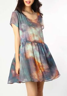 Galaxy baby doll dress / Evil Twin