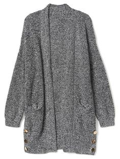 Gap Womens Long Open-Front Shawl Cardigan Charcoal Heather