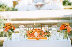 Photography: Erin Hearts Court - erinheartscourt.com  Read More: http://www.stylemepretty.com/2014/11/08/bright-orange-malibu-wedding/