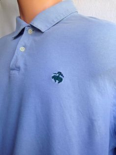 Men's XL Brooks Brothers Blue Long Sleeve Polo Shirt + FREE SHIPPING #Brother #PoloRugby