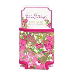 Lilly Pulitzer Drink Hugger- Beach Rose from Shop Southern Roots TX