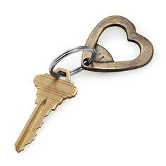 Bronze Heart Bottle Opener Keychain