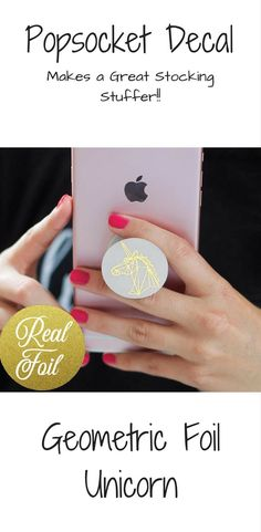 Real FOIL | Geometric Unicorn Pop Socket Cover | Pop Socket Decal | Popsocket Sticker | Political Pop-Socket | Skin Decal #popsocket #christmasgifts #aff