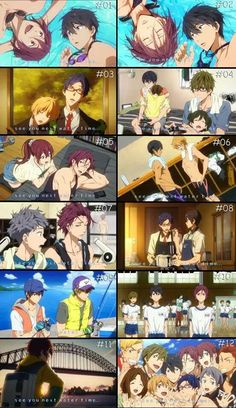 Free! Iwatobi Swimming Club - Ending Cards
