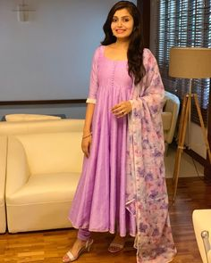 Check out the prettiest anarkalis suits and gowns in South Indian style from a very famous brand called Style diva label. Beautiful Dress Designs, Stylish Dress Designs, Stylish Dresses, Fashionable Outfits, Casual Outfits, Indian Anarkali Dresses, Designer Anarkali Dresses, Designer Dresses, Churidar Designs
