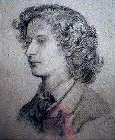 Portrait of Algernon Charles Swinburne: 1860 -- by Dante Gabriel Rosetti