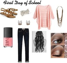 """First Day of School Outfit"" by briannastrom on Polyvore"