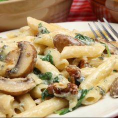This recipe for Mushrooms Florentine is delicious on pasta or rice.. Mushrooms Florentine Recipe from Grandmothers Kitchen.